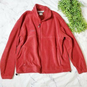 Columbia Men's Dark Red Full Zip Fleece Jacket